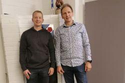 Somerniemi-Seuran puheenjohtajavaihdos Jussi Teräväinen --> Lasse Linnilä 17.11.2019 Puheenjohtajan toimikausi alkaa 2020 alusta.JPG